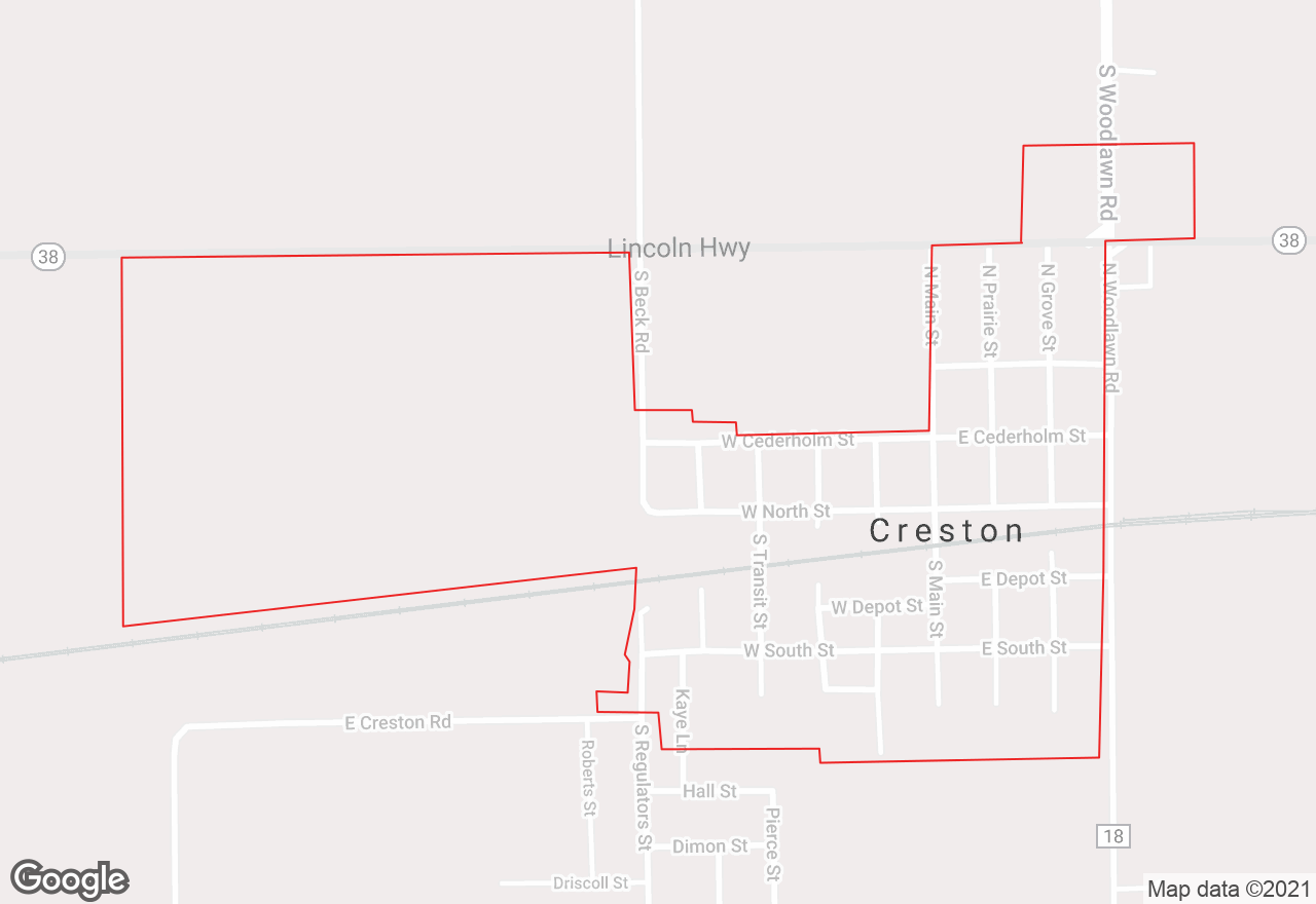 Creston map