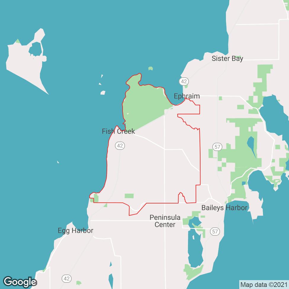 Fish Creek map