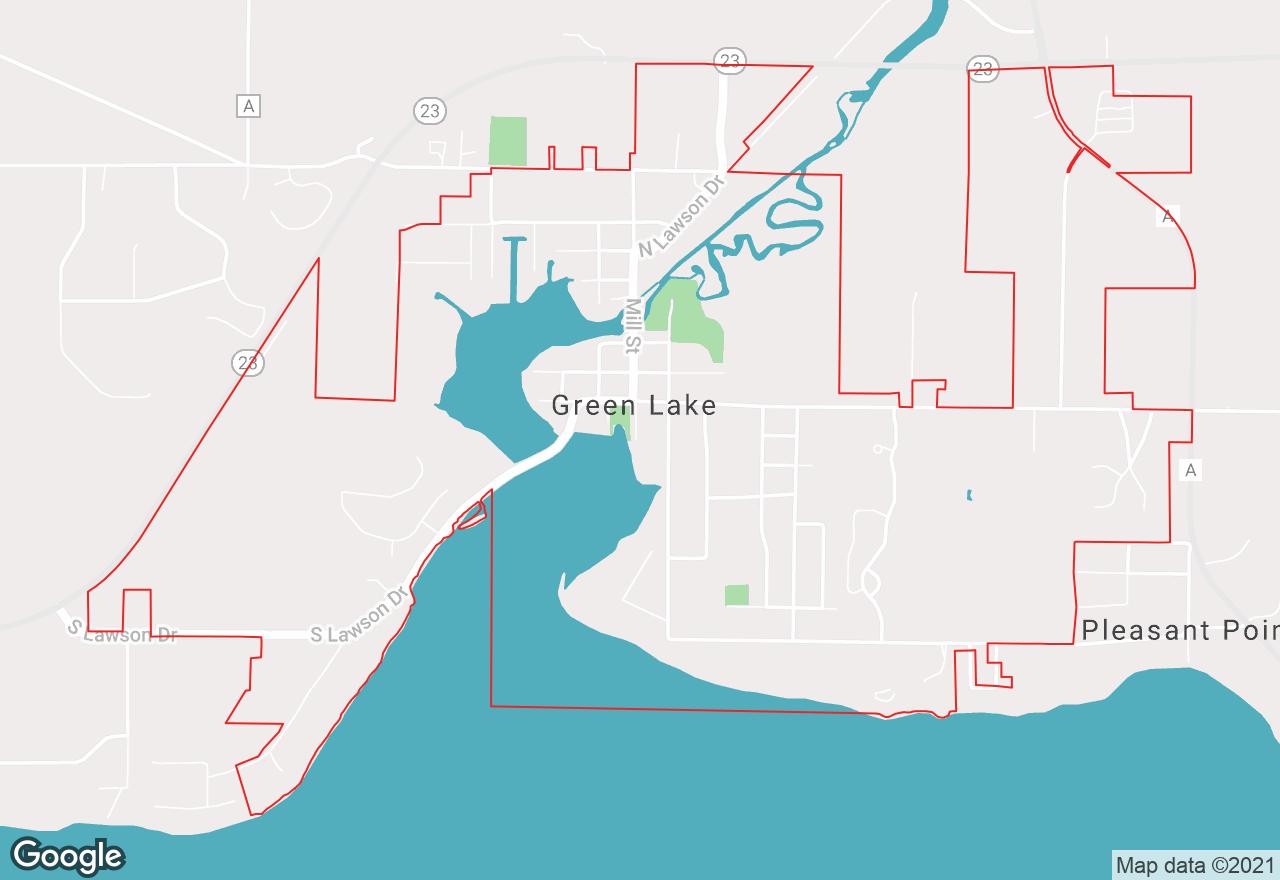 Green Lake map