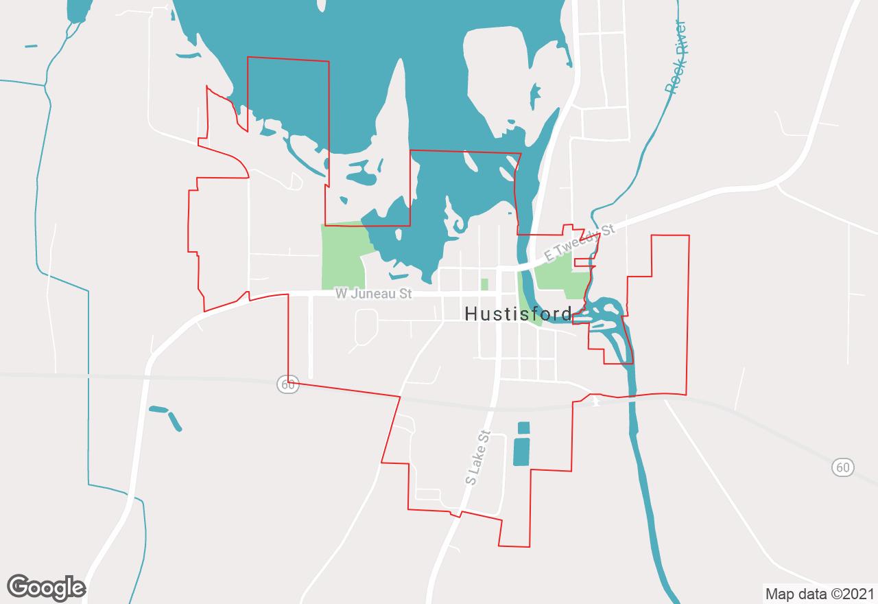 Hustisford map