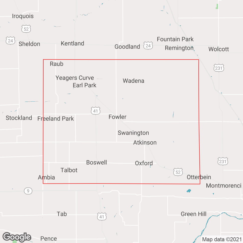 Benton County map