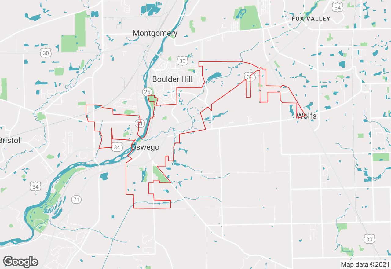 Oswego map