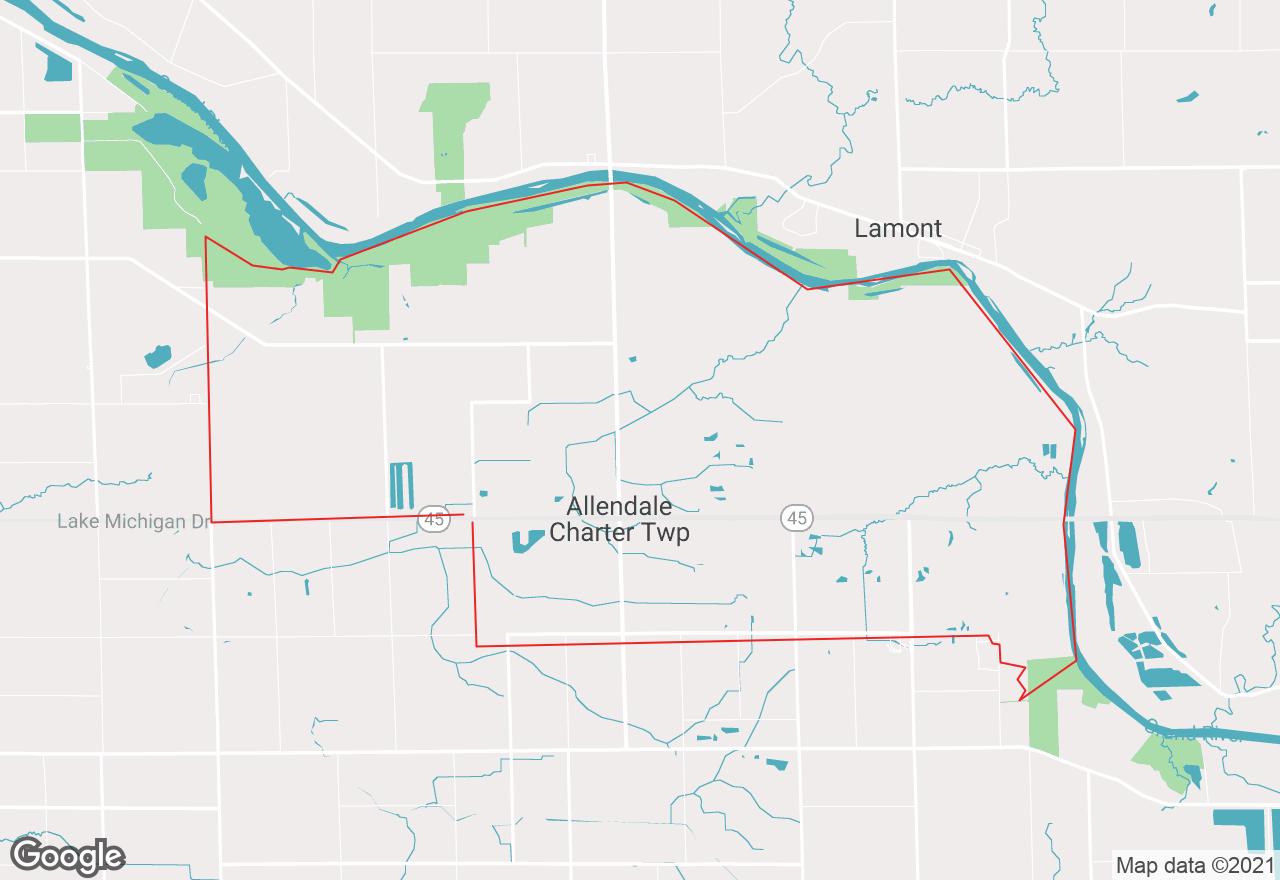 Allendale map