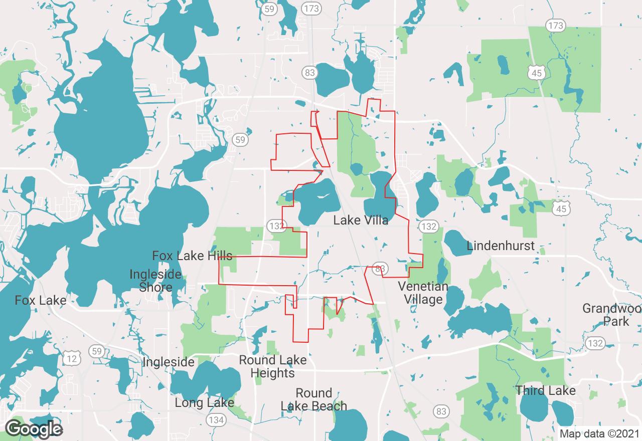 Lake Villa map