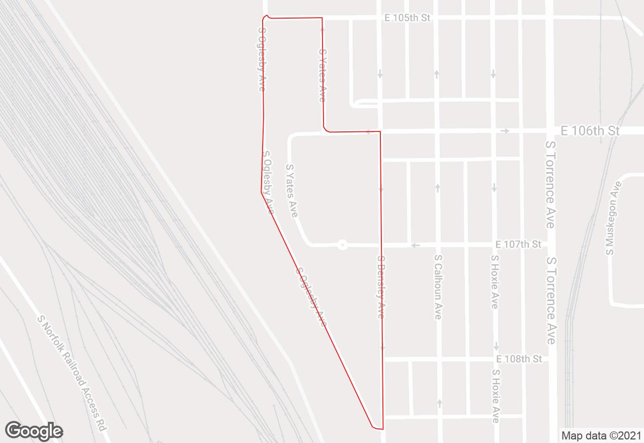 Trumbull Park map