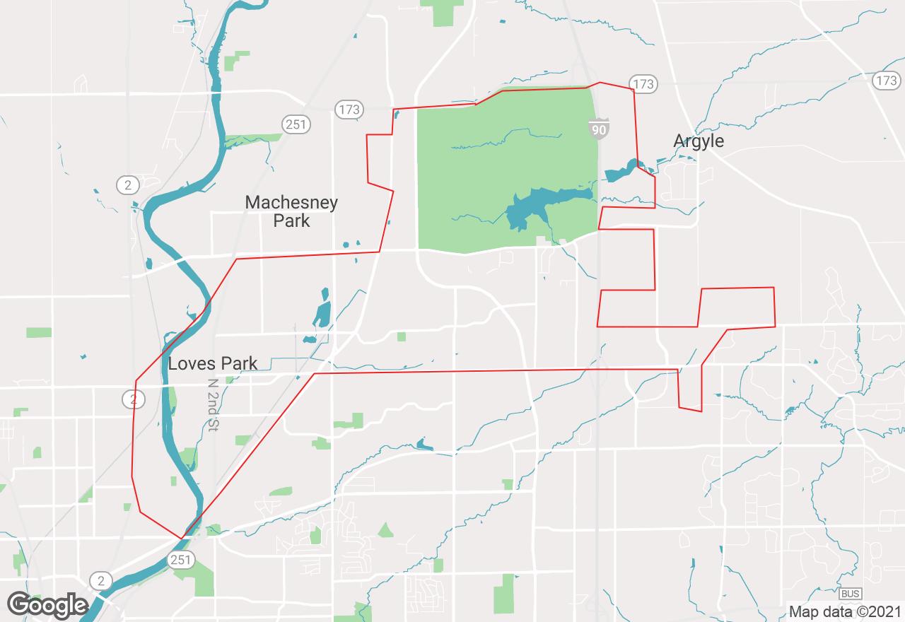 Loves Park map