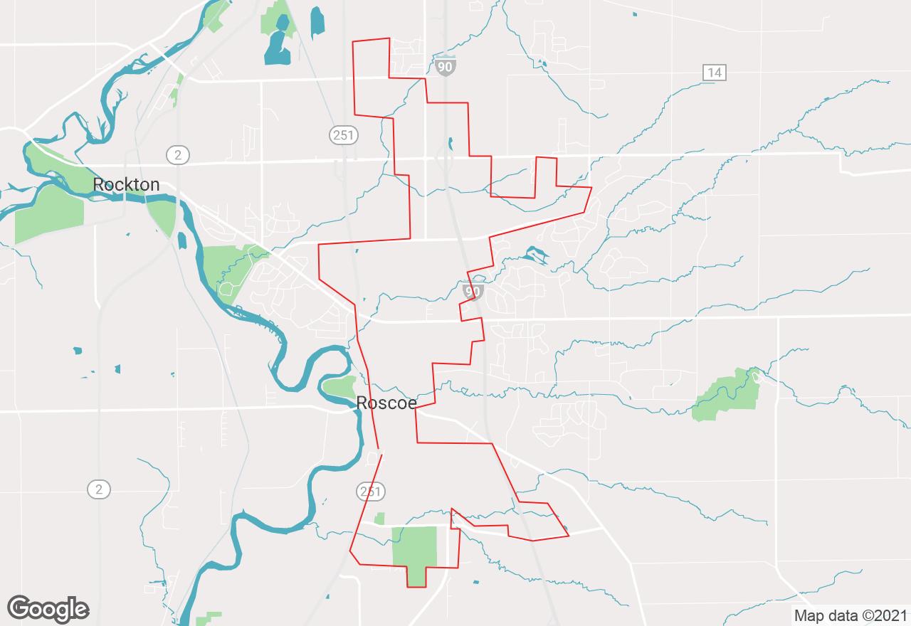 Roscoe map