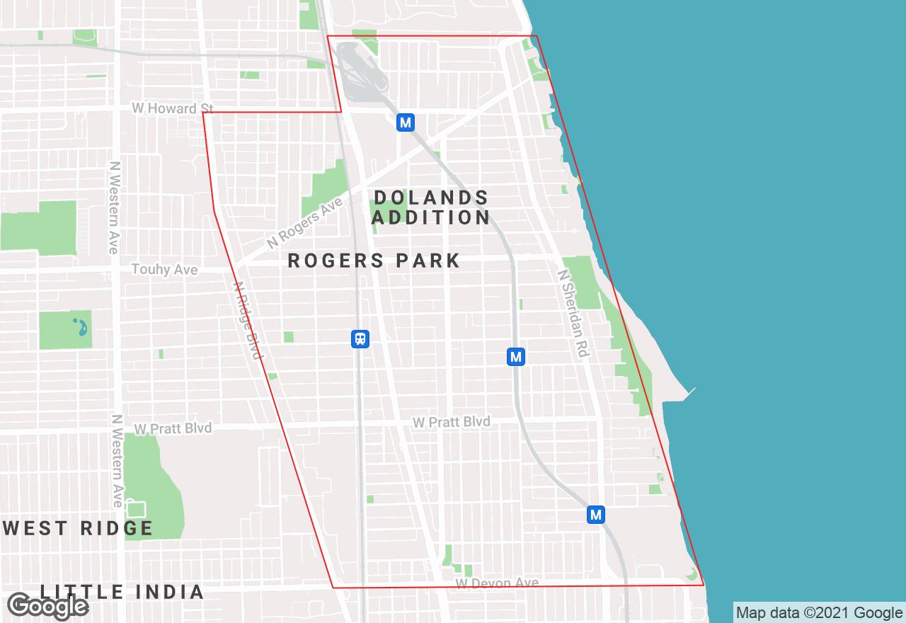 Rogers Park map