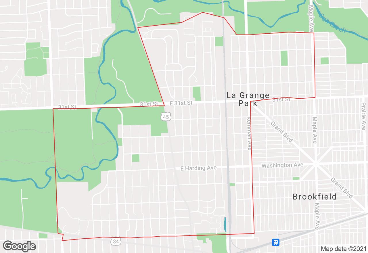 La Grange Park map