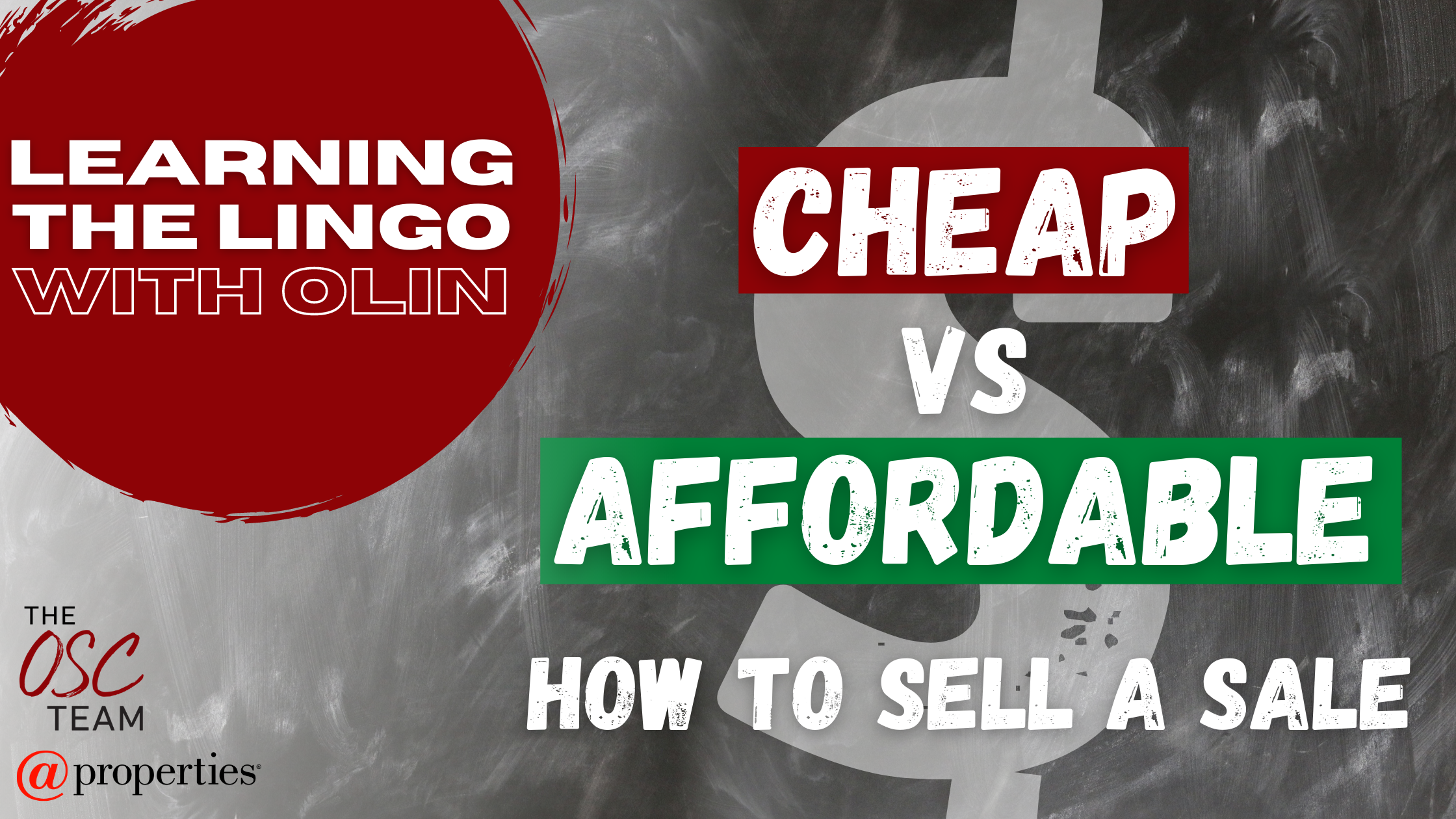 Learning the Lingo with Olin - Cheap vs. Affordable
