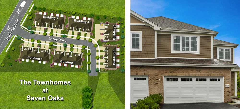 townhomes and lots 7 Oaks Lemont